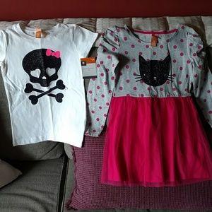2 brand new holloween pieces sz girls 6/6x
